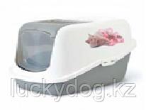Savic туалет-био с рисунком 56*39*38,5 бел/сер