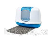 Savic туалет-био угловой 58,5*45,5*40 сине/белый  А2003-0WTB (серый коврик в набор не входит продается отдельн