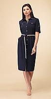 Платье Дали-3459, темно-синий, 44