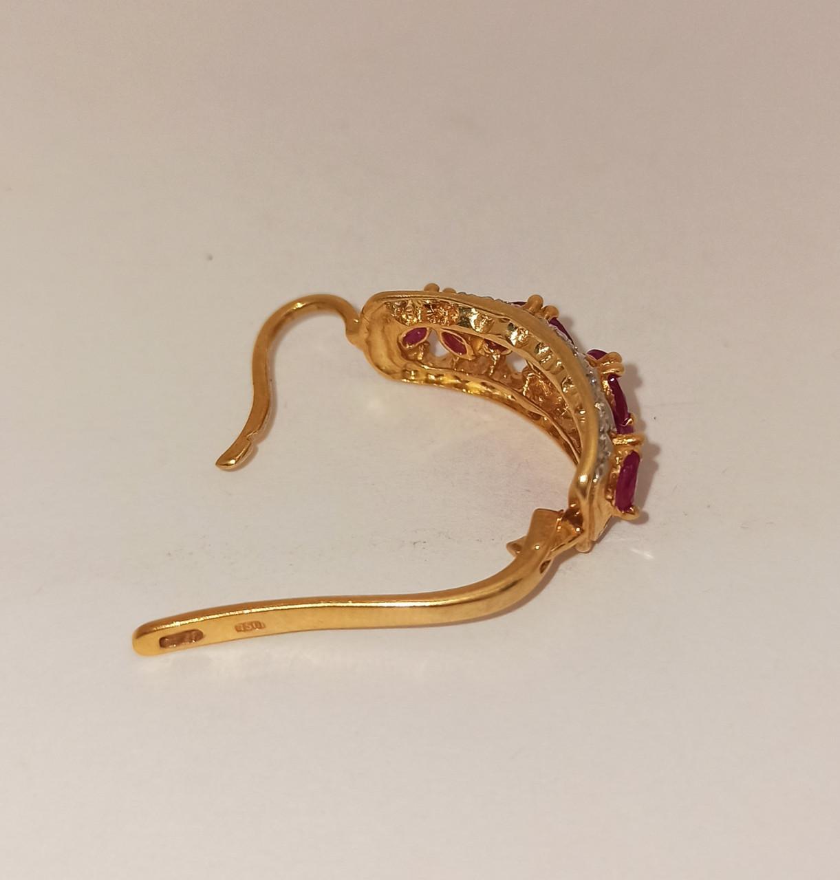 Золотой комплект с бриллиантами и рубинами - фото 8