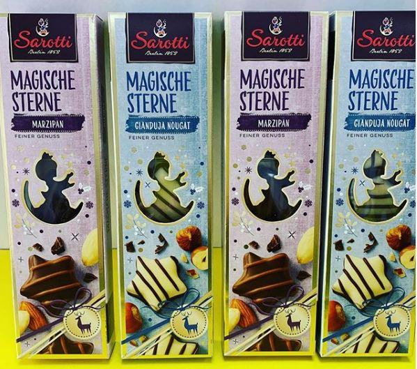 Шоколадные конфеты Sarotti Magische Sterne 62 гр (марципан, нуга)