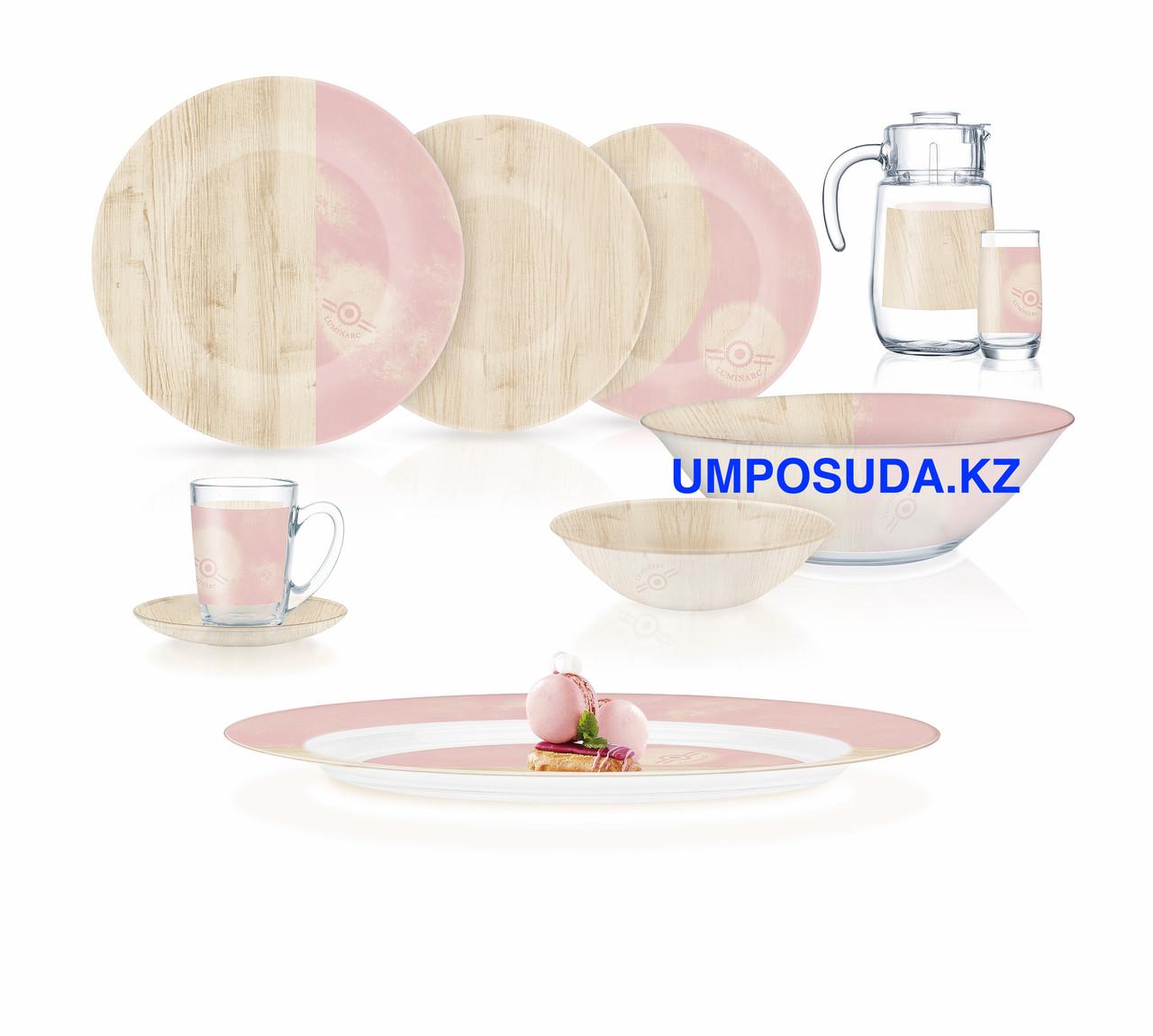 Столовый сервиз Luminarc Nordic Hevea Pink 46 предметов