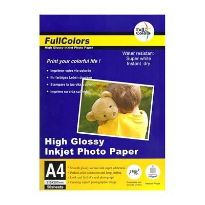 Фотобумага Глянцевая A4/50/200г FullColors 200GSM-A4-50(20)