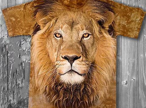 «Лев» молодежная мужская варенка футболка 3D, фото 2