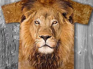 «Лев» молодежная мужская варенка футболка 3D