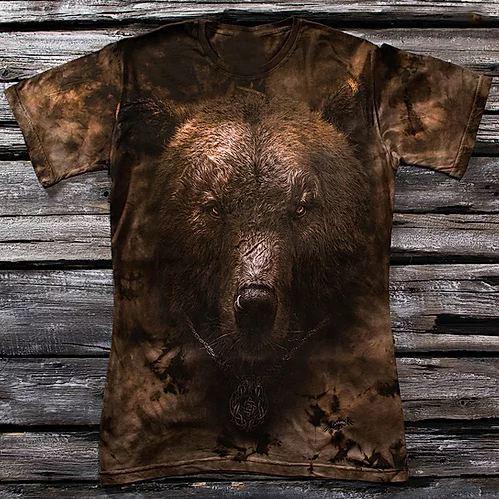 «Русский медведь» мужская варенка футболка 3D