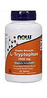 Now Foods, L-триптофан, 1000 мг, 60 таблеток.