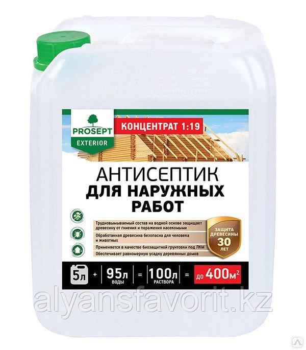 EXTERIOR - пропитка антисептик-концентрат для наружных работ. 5 литров.РФ