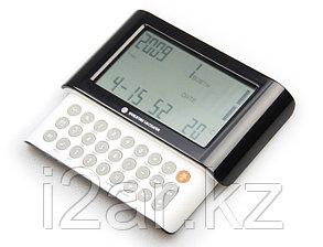Калькулятор/часы черно-белый