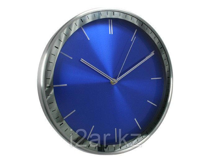 Настенные часы синие алюминиевые