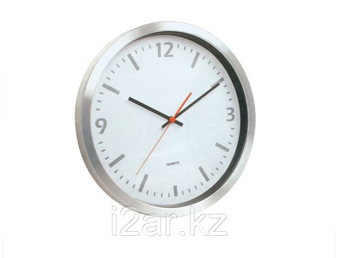 Настенные часы серебристые алюминиевые
