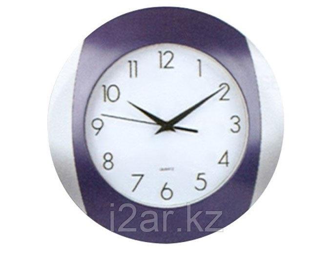 Настенные часы сиреневые пластиковые