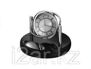 Настольные часы с фоторамкой черные