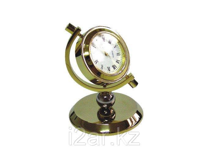 Настольные золотистые часы с фоторамкой