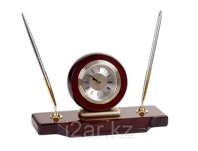 Настольные часы с фоторамкой коричневые