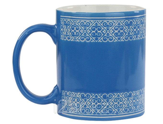 Кружка с орнаментом синяя