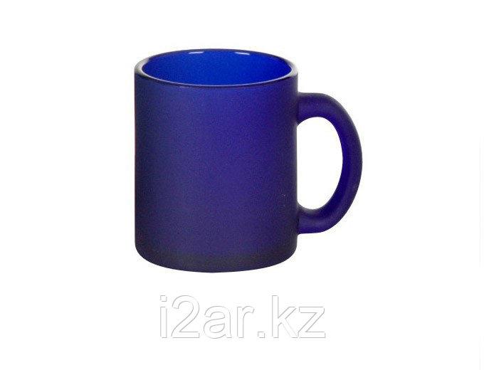 Кружка синяя стеклянная