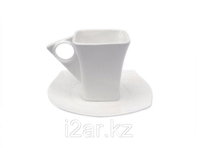 Кружка керамическая с блюдцем
