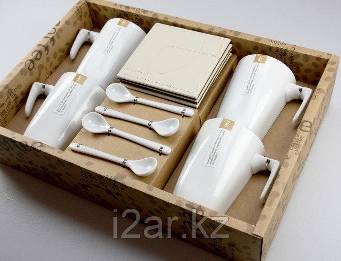 Чайный набор белый в подарочной упаковке