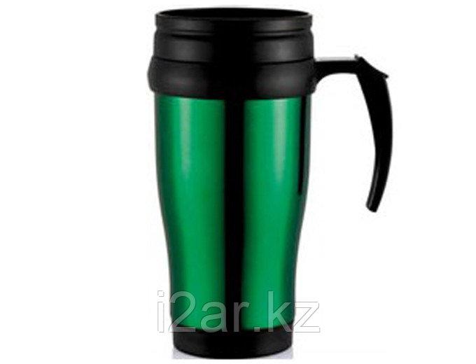 Термокружка пластиковая 400ml (Зеленная)
