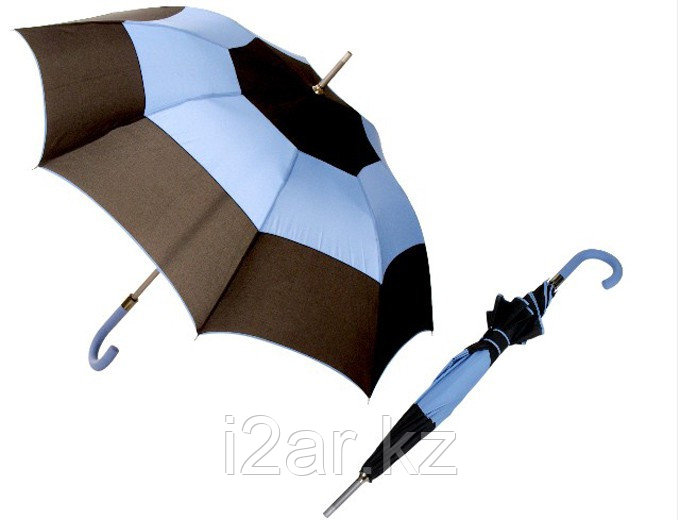 """Зонт - трость (21""""*14) черно-голубой"""