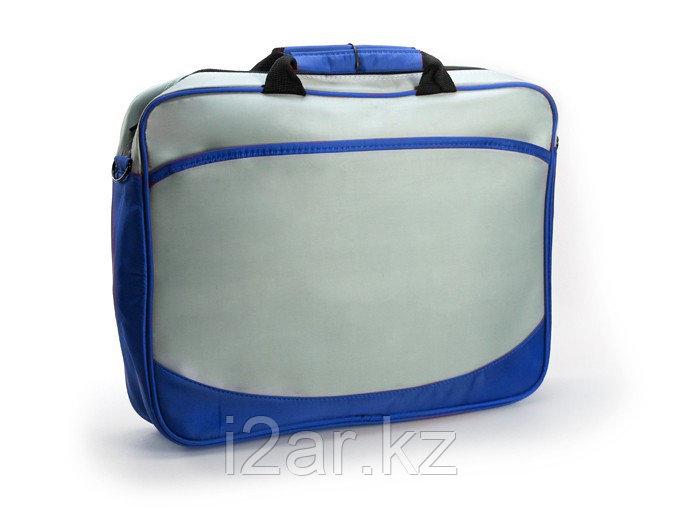 Конференц - сумка серо-синяя