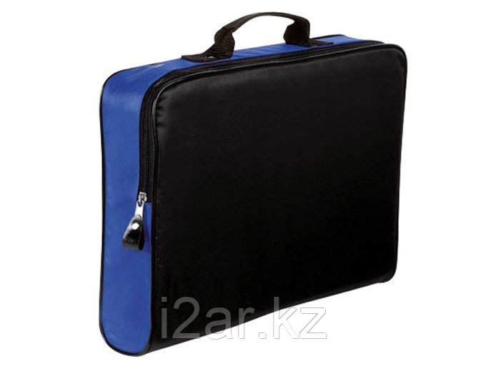 Конференц-сумка на молнии черно-синяя
