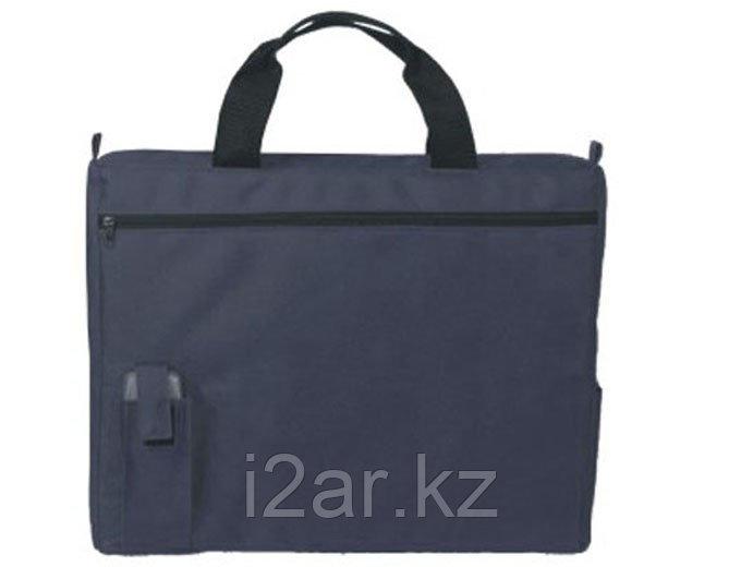 Конференц-сумка с карманом для мобильного телефона синяя