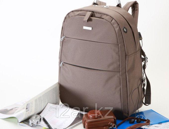 Рюкзак коричневый микрофибра