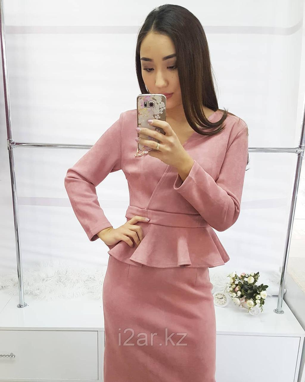 Платье из спандекса, розовый