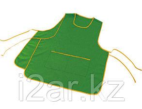 Фартук с воротом, цвет зеленый