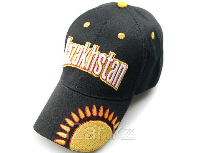 """Бейсболка """"Казахстан"""", черная с вышивкой"""
