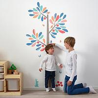 КИННАРЕД Декоративные наклейки, ростомер-дерево, 160 см Икея