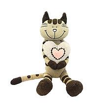 Кот Полосатик с сердцем 33 см MT-MRT051503-33