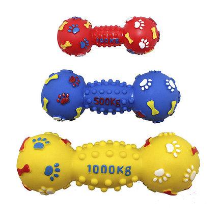 Игрушка виниловая Гантель-мина с шипами 19 см EV058 ZooMax, фото 2