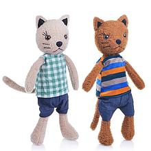 Мягкая игрушка Кот в одежде 25 см М0375