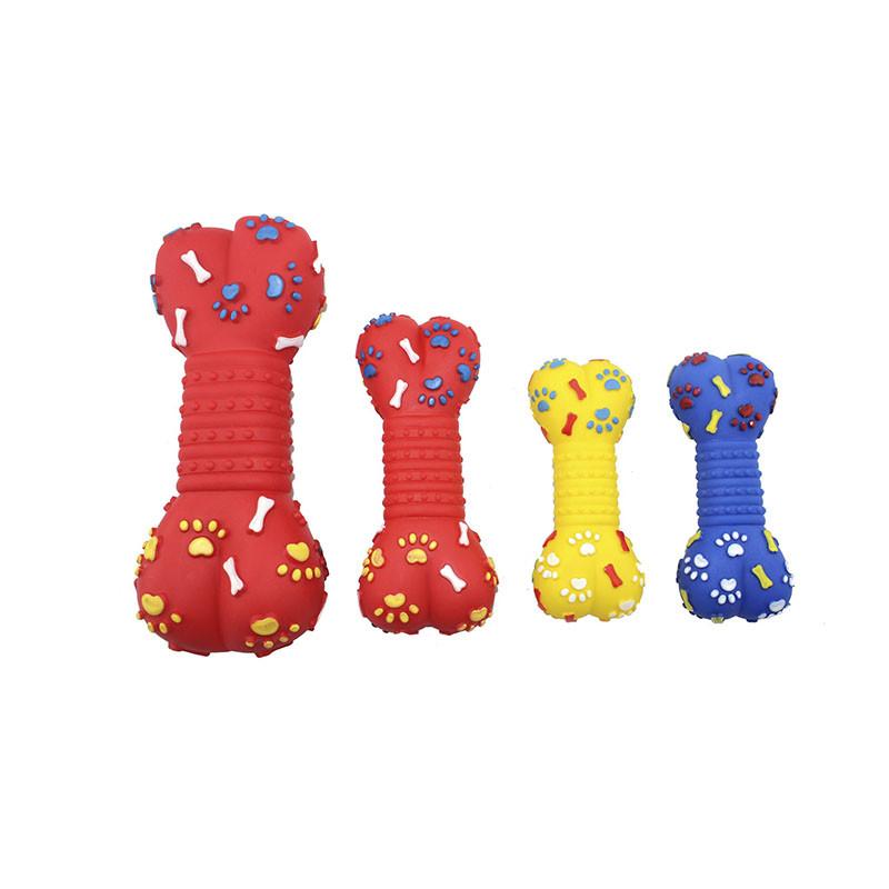 Игрушка виниловая кость-пищалка с лапками и шипами 18 см EV0052 ZooMax
