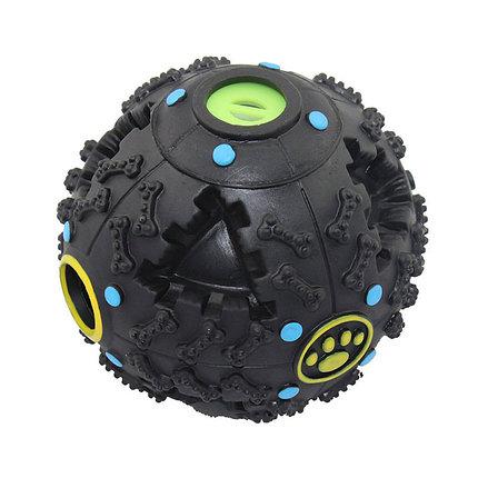 Игрушка Мяч-кормушка с лапками со звуком 7,5 см EV001, фото 2
