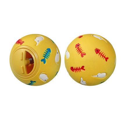 Игрушка мяч-кормушка с рыбками для кошек 7,5 см EV008 ZooMax, фото 2