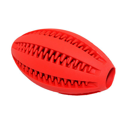 Игрушка резиновая массажный Мяч регби 11 см ER003 ZooMax, фото 2