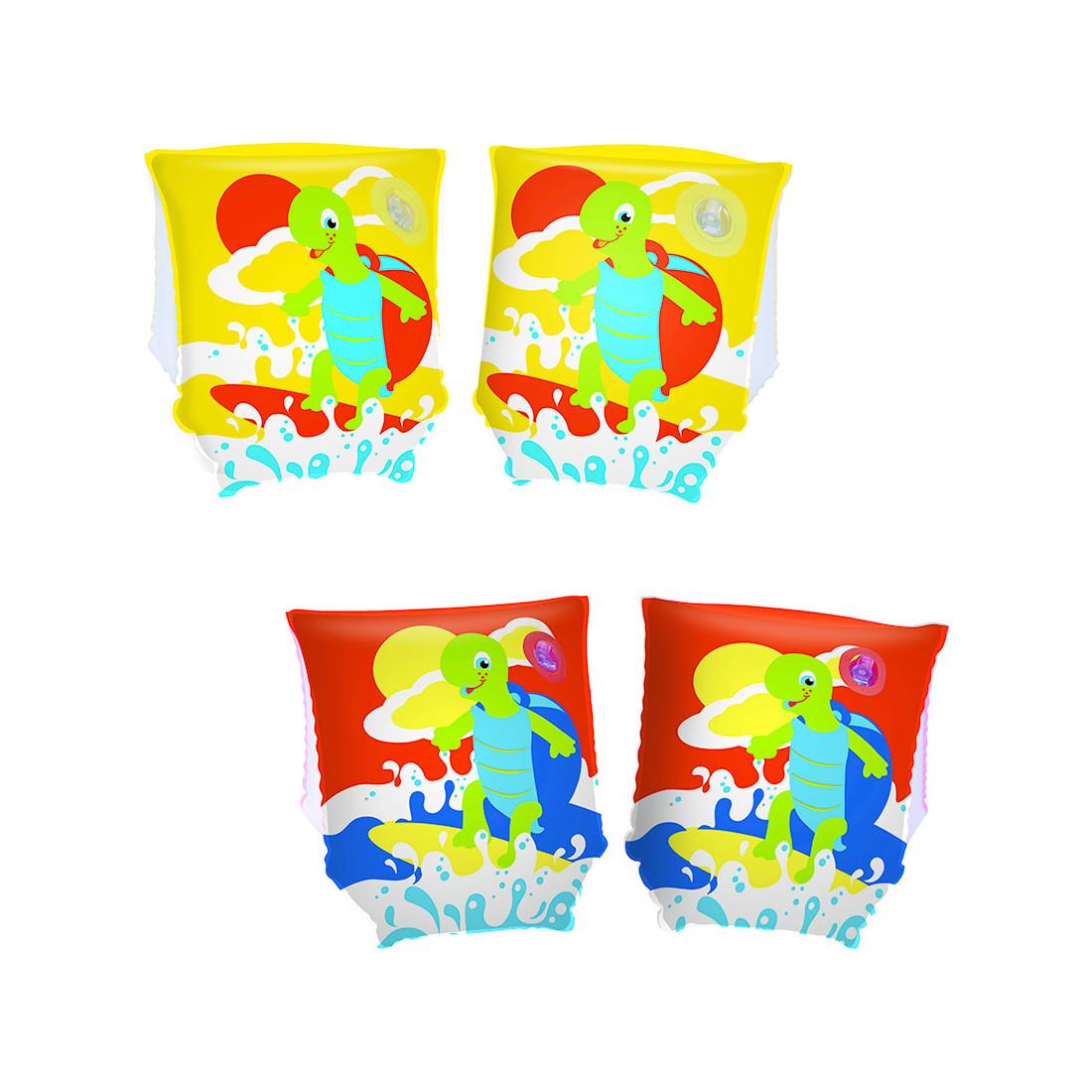 Нарукавники для плавания BESTWAY Turtle 3+ 32043 (23х15см, Винил, Двухкамерные)