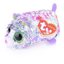 Игрушка-брелок в пайетках 10 см Кошка розовая 42408