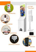 Цифровой киоск 3 в1, автоматический санитайзер, измеритель температуры, Digital Signage