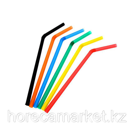 Трубочки d6x26mm цветные с гофрой (100шт), фото 2