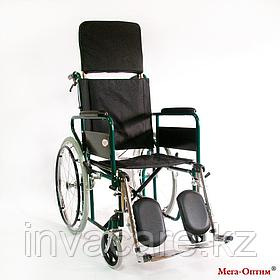Инвалидная коляска с регулир. угла наклона спинки и подножек Мега Оптим FS 902 GС, литые задние колеса