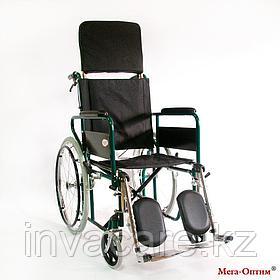 Инвалидная коляска с регулир. угла наклона спинки и подножек Мега Оптим FS 902 GС, пневматич. задние колеса
