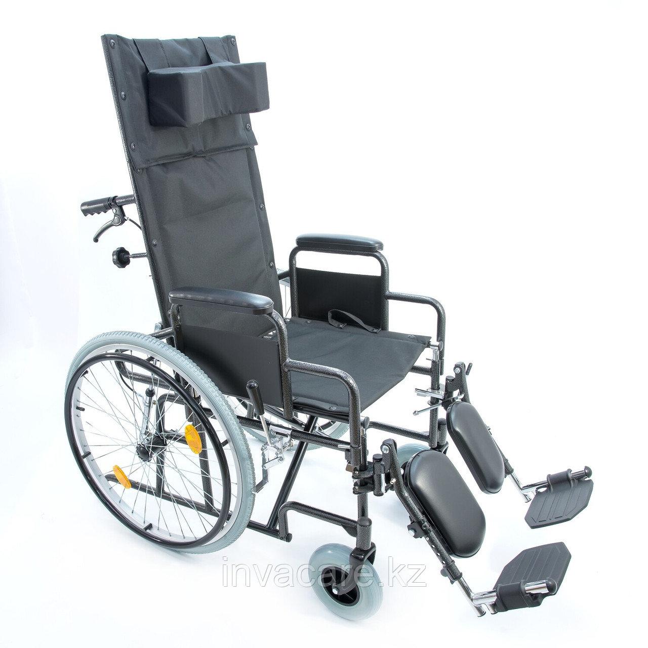 Инвалидная коляска с регулир. угла наклона спинки и подножек 514 A, литые задние колеса
