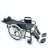 Инвалидная коляска с регулир. угла наклона спинки и подножек 514 A, литые задние колеса, фото 2