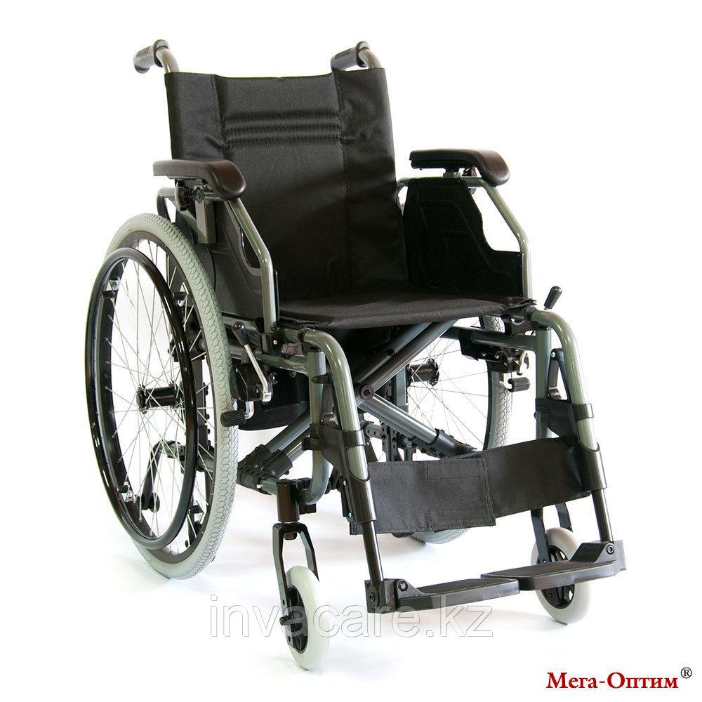 Инвалидная коляска с дополнительными транзитными колесами Мега Оптим FS 957 LQ