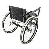Инвалидная коляска для фехтования Мега Оптим FS 720 L, 36 см, фото 3